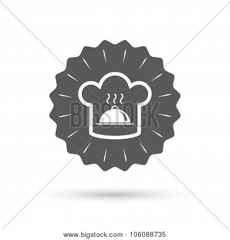 Chef hat sign icon. Cooking symbol.