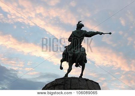 Monument To Bogdan Khmelnytsky In Kyiv, Ukraine