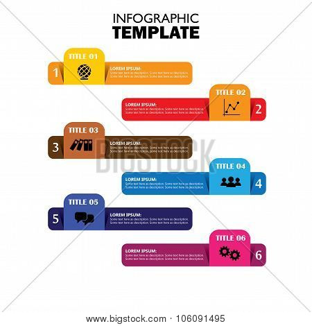 Infographic Design Template And Marketing Vector Icons