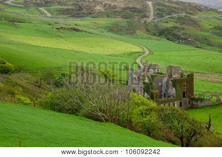 Clifden Castle In Northern Ireland