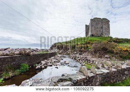 Ruins Of Minard Castle, County Kerry, Ireland