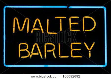 Malted Barley Sign