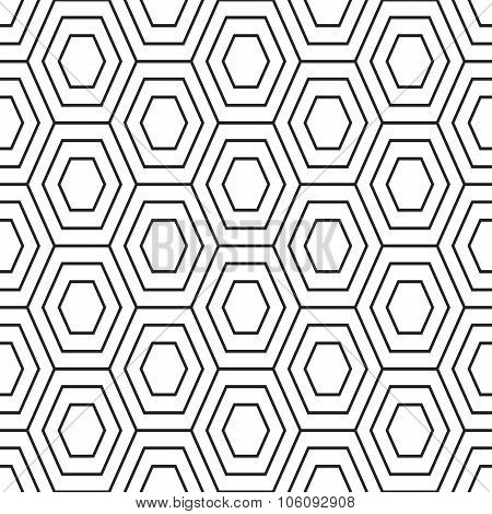 Hex stripped grid seamless pattern.