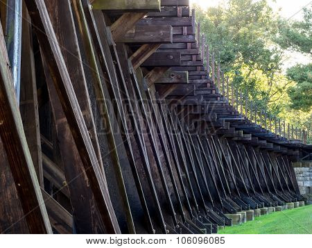 Low-Angle View of Train Trestle