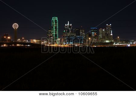 Dallas Texas Skyline bei Nacht