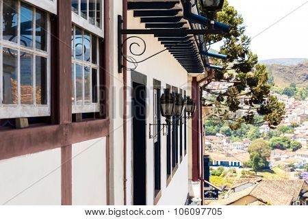 Antique house in the city of Ouro Preto, Minas Gerais, Brazil