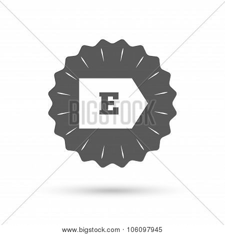 Energy efficiency class E. Energy consumption.