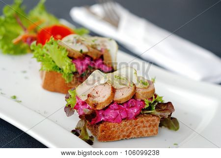 Meatballs And Beetroot Salad