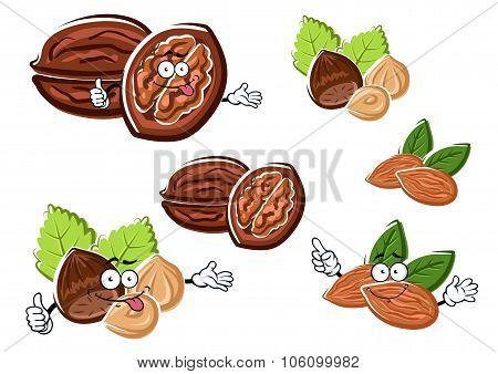 Almond, walnut and hazelnut with kernels