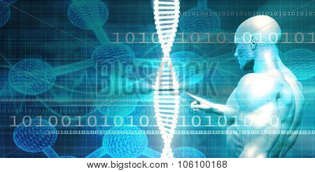 Genetic Research Facility Industry with Medical Researcher