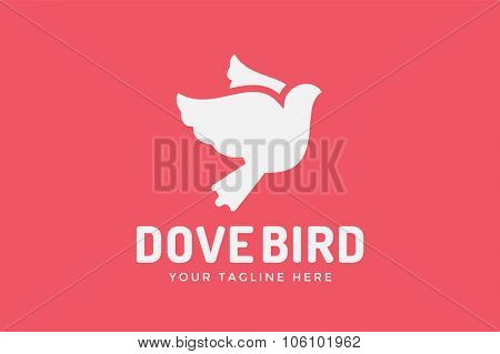 Dove vector logotype. Dove logo. Dove symbol. Bird dove monogram. Peace world bird. Bird vector logo. Dove silhouette logo,Globe union brand logo, care clinic logo, togetherness concept logo.Dove logo
