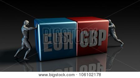 EUR GBP Currency Pair or European Euro vs British Pound
