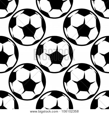 Seamless football or soccer pattern background