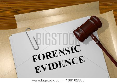 Forensic Evidence Concept