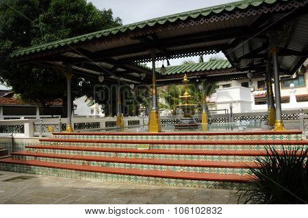 Ablution of Kampung Kling Mosque at Malacca, Malaysia
