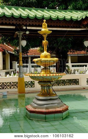 Ablution fountain at Kampung Kling Mosque at Malacca, Malaysia