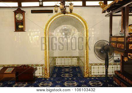 Mihrab of Kampung Kling Mosque at Malacca, Malaysia