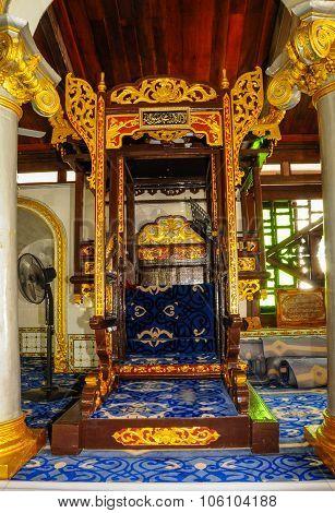 Mimbar of Kampung Kling Mosque at Malacca, Malaysia