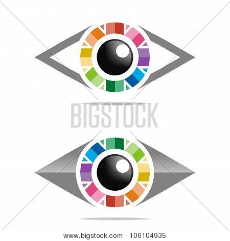 Rainbow Eye Logo