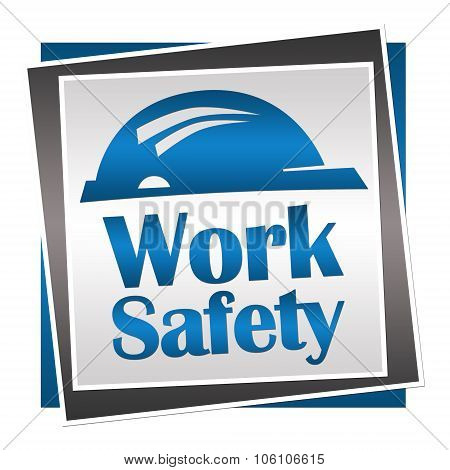 Work Safety Blue Grey Squares