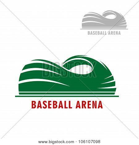 Baseball or softball stadium symbol