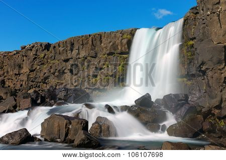 One of Icelands beautiful waterfalls