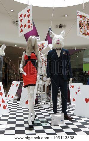 Alice In Wonderland Mannequins