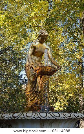 Nymph fountain in Peterhof.