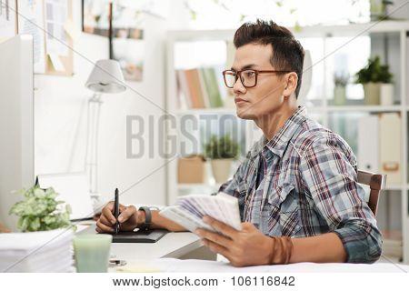 Modern graphic designer