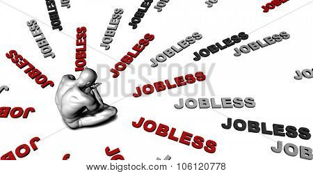 Suffering From Jobless with a Victim Crying Male