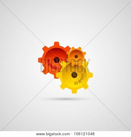 Colored gears in connection mechanism