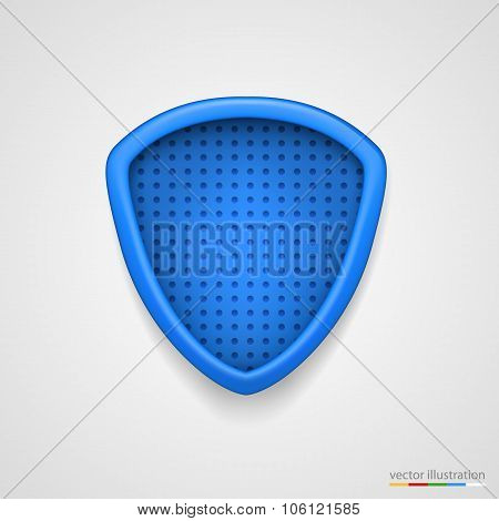 Protection concept. Illustration of blue shield