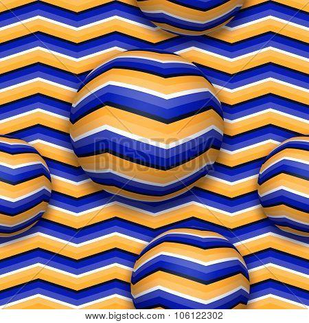 Balls moving upwards seamless pattern