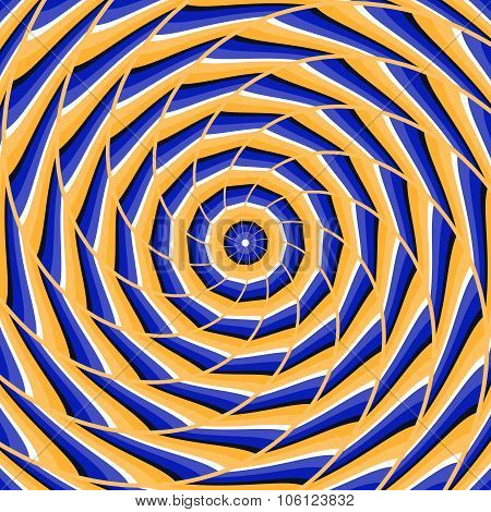 Spiral twisting to center background