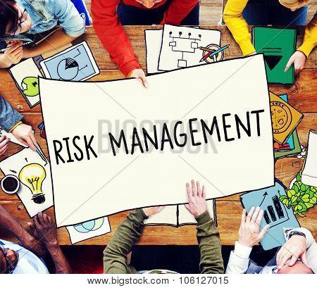 Risk Management Hazard Dangerous Prevent Protect Concept