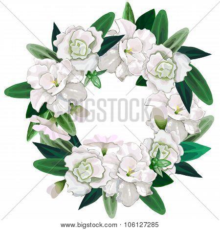 Gentle azalea wreath
