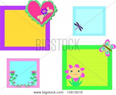 Mix of Colorful Nature Frames