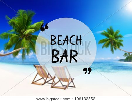 Summer Beach Bar Friendship Holiday Vacation Concept