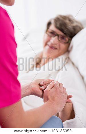 Senior Woman Having Professional Care