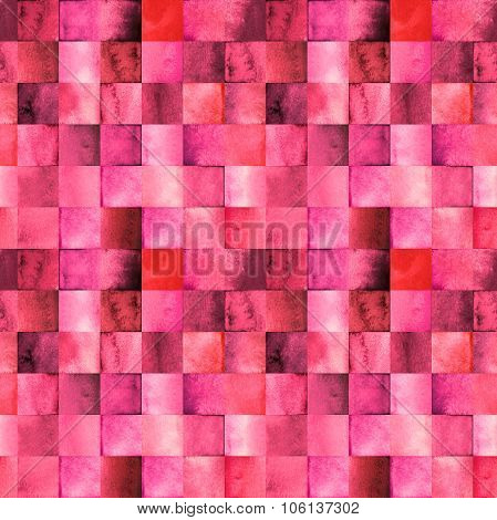 Wtercolor pattern with gradient squares