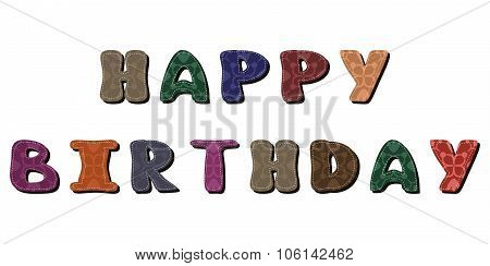 happy birthday dedication on white background