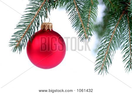 Christmas Ornament Hanging On A Tree