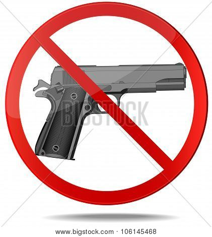 No guns vector sign.