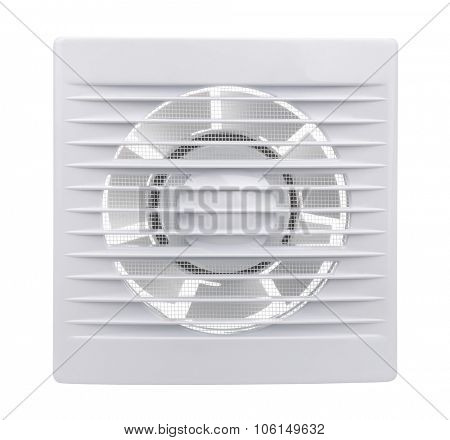 Bathroom extract fan isolated on white
