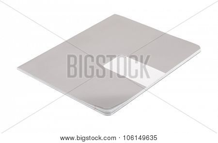 Exercise book isolated on white