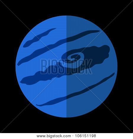 Pluton flat icon