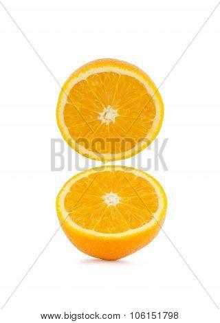 Fresh Half Orange On White Background