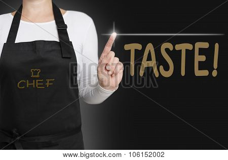 Taste Background Cook Operated Touchscreen Concept