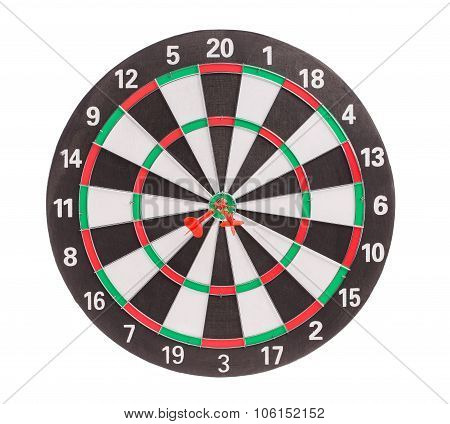 Traditional dart board.