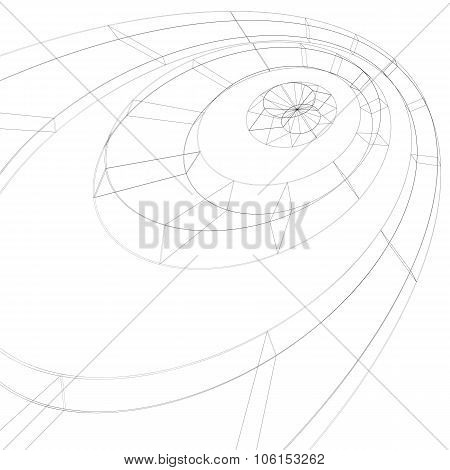Digital Black And White Lattice Stylish Background, Abstract Netting Figure With Lines Mesh. Technol